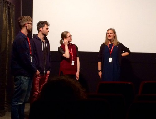 Q&A after a screening at Vilnius IFF